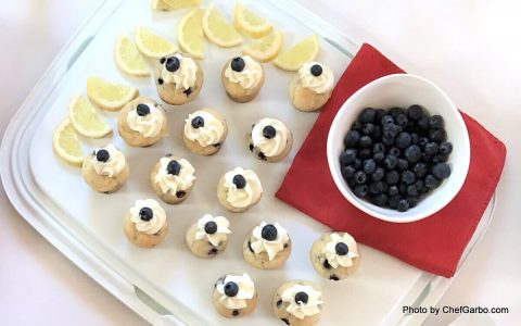 Mini Blueberry Muffins - July 4th Recipes