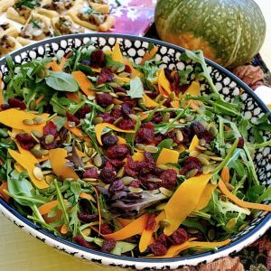Shaved Butternut Squash Salad with Dried Cranberries