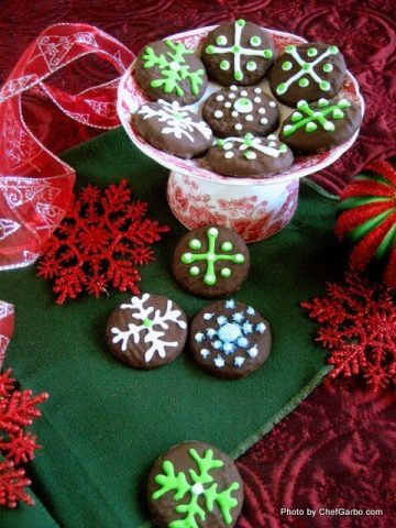 Christmas-Oreo-frosted-homemade-cookies