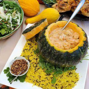 Creamy Cassava with Shrimp Pumpkin Bowl