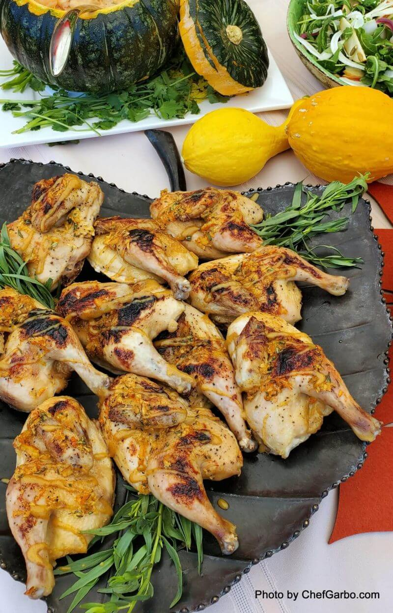 Fall Holiday Recipe Ideas - Ginger Glazed Game Hens