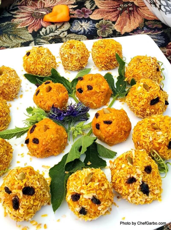 Halwa-Ween Coconut Carrot Truffles