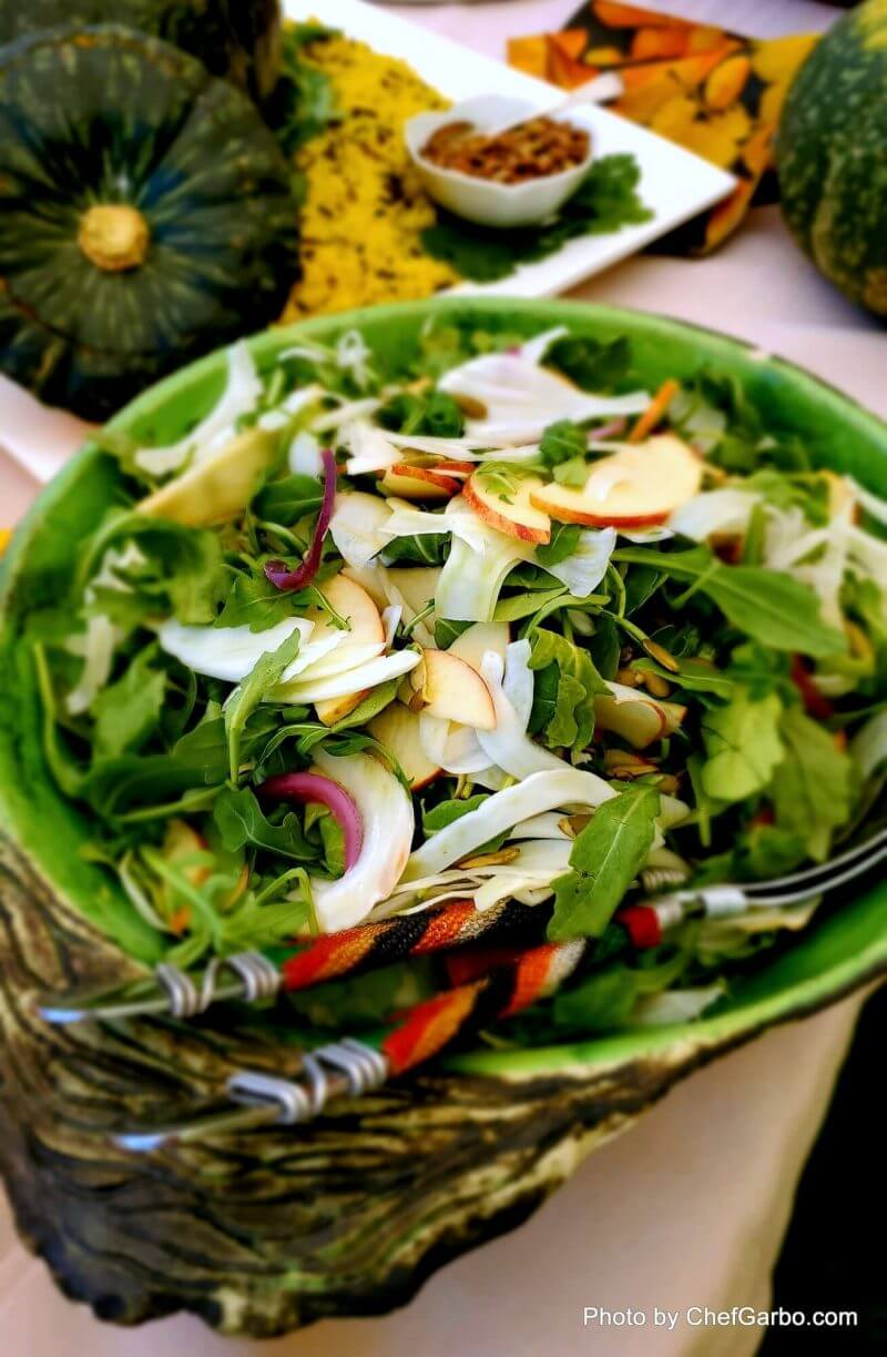 Fall Holiday Recipe Ideas - Rocket Salad with Shaved Apple and Pear