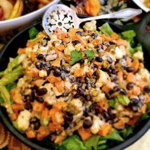 Sweet Potato Salad with Black Beans