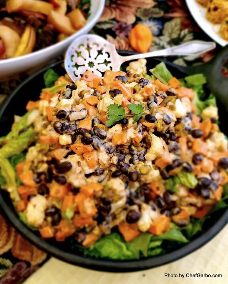 Fall Holiday Recipe Ideas - Sweet Potato Salad with Black Beans
