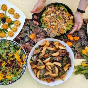Fall Harvest Table Scape Salads
