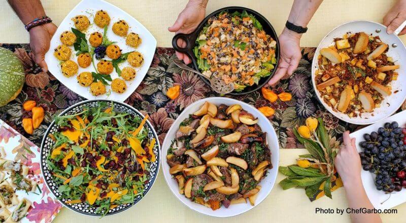 Fall Harvest Recipe Ideas - Table Scape Salads